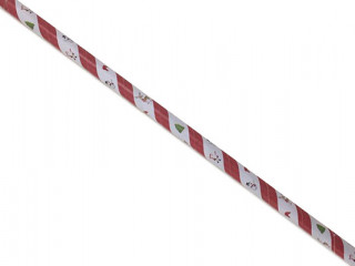 Christmas design paper straws