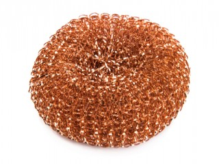 Copper coated scourer
