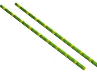 Bamboo design paper straws