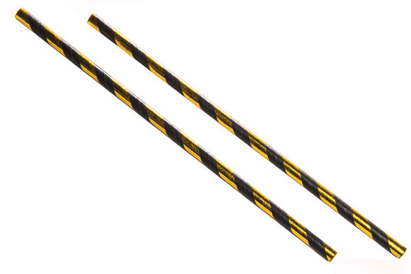 black and gold paper straws