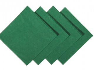 dark green napkins