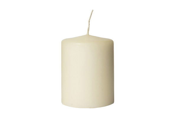 60x80mm ivory pillar candle