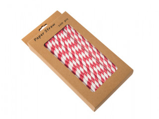 paper straws red and white