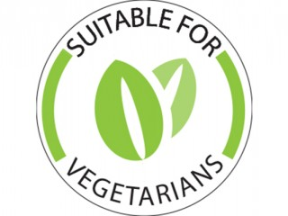 Vegetarian Dot Label