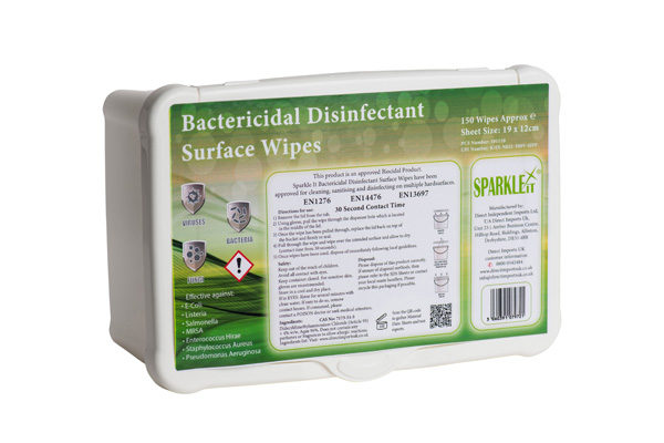 bactericidal disinfectant surface wipes