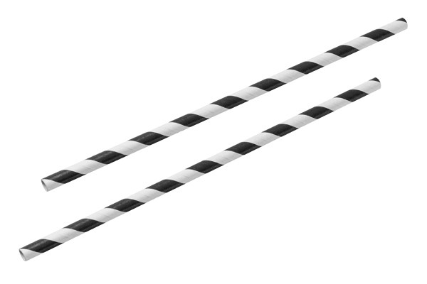 black white paper straw