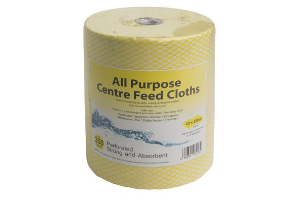 centre feed cloths yellow