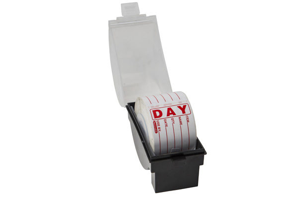 day label dispenser