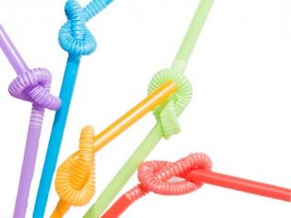 neon crazy straws