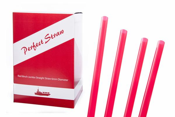 red 8 inch jumbo straight 6mm