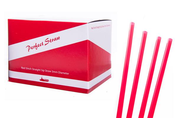 red sip straws 5 inch 3mm