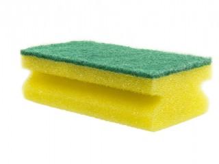 sponge scourer green abrasive
