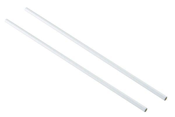 white paper straw 10.5