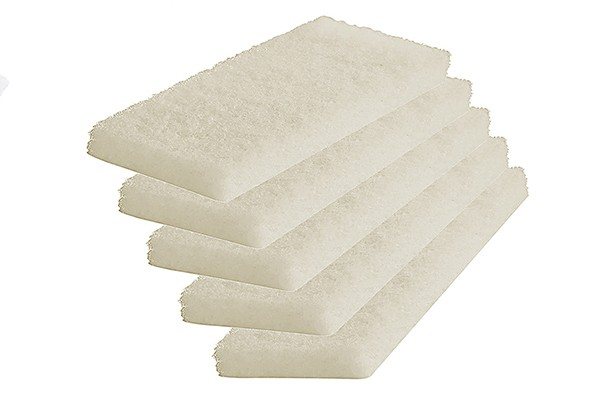 white utility hand pads
